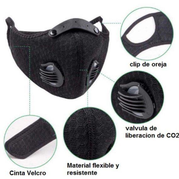 Cubrebocas con Filtro Reemplazable PM2.5